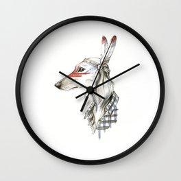 Native saluki Wall Clock