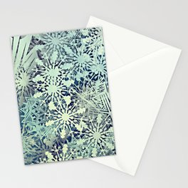 sea of flakes Stationery Cards