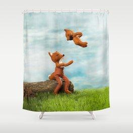 """""""Más Arriba, Más Arriba"""" Shower Curtain"""