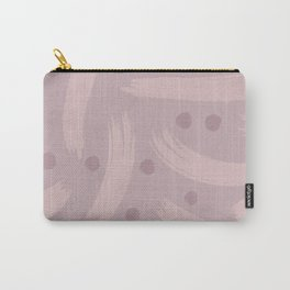 Paint Strokes - Dusty Mauve, Muted Rose and Warm Heather Carry-All Pouch