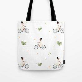 Bike Ride Pattern Tote Bag