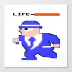 8-Bit Life Canvas Print
