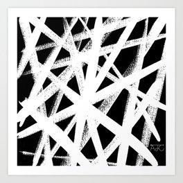 So Cross White Art Print