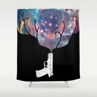 big bang Shower Curtains featuring Big Bang // Color by Beyond Infinite