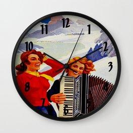 Vintage Vallee de Joux Switzerland Travel Wall Clock