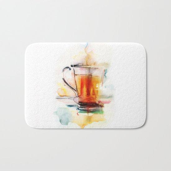 Black tea Bath Mat