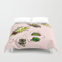 basquiat Duvet Covers featuring Basquiat Netflix by alexSHARKE