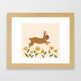 golden leap Framed Art Print