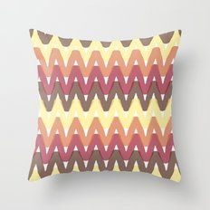 Summer Pattern 11 (Bonfire) Throw Pillow