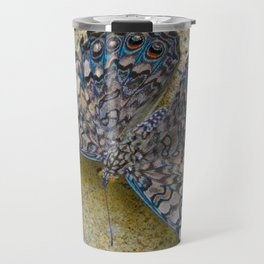 Turquoise and Sand Butterfly by Teresa Thompson Travel Mug