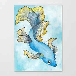 Fighting Fish Canvas Print