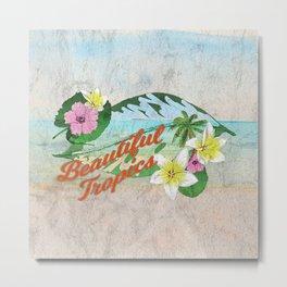Retro Beautiful Tropics Metal Print