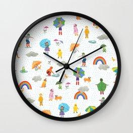 Fun on a Rainy Day Wall Clock