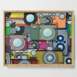 Vintage camera pattern Serving Tray