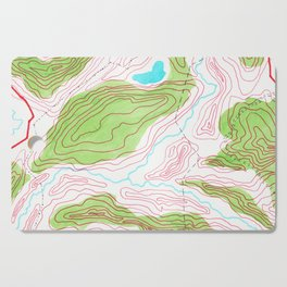 Let's go hiking - topographical map Cutting Board