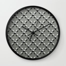 Mod Gray Wall Clock