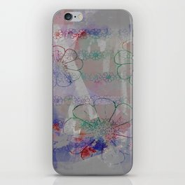 flower pattern color explosion iPhone Skin