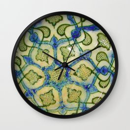 Rubino Snake Abstract Swirls Flowers Floral Wall Clock