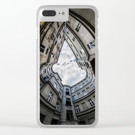Laying on the ground Clear iPhone Case