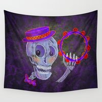 skeleton Wall Tapestries featuring Skeleton by Rich Green