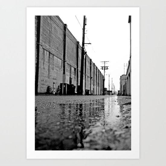 Gritty urban alley Art Print