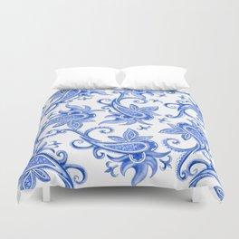 Paisley: Blue China Combo Duvet Cover