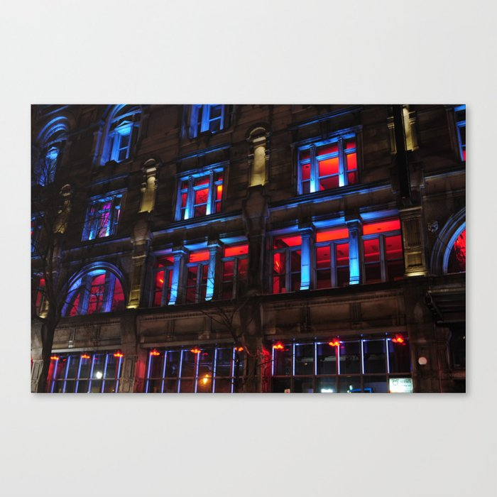 Red and Blue Building Canvas Print