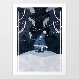 Into the Winter Woods Art Print