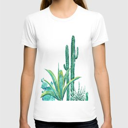 cactus jungle watercolor painting 2 T-shirt