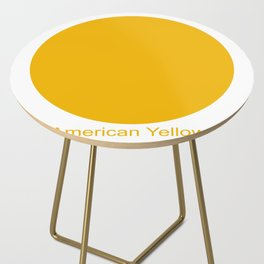 American Yellow Side Table
