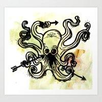 i dream of octopi Art Print