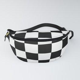 Black & White Checker Checkerboard Checkers Fanny Pack