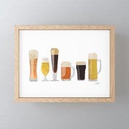 Beer Mugs Framed Mini Art Print