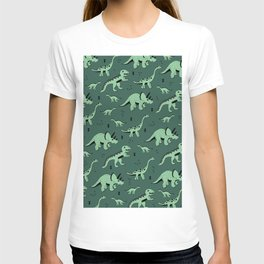 Dinosaur jungle love quirky creatures illustration T-shirt