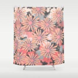 Painterly flowerfield Shower Curtain