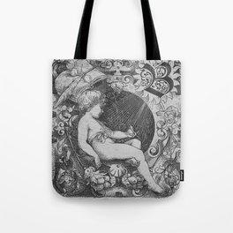 Cherub | Angels Vintage | Victorian | Sketch | Letter B Tote Bag