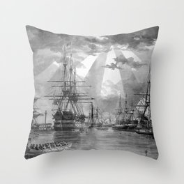 Civil War Ships of the United States Navy Throw Pillow