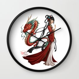 Chinese dragon pure Wall Clock