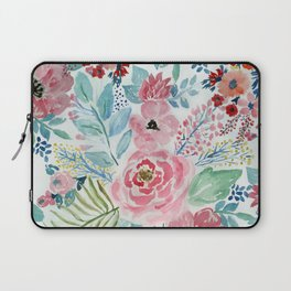 Pretty watercolor hand paint floral artwork. Laptop Sleeve