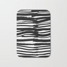 Stripes - Fusion of pen strokes Bath Mat