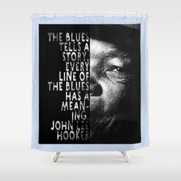 The Blues Tells A Story Shower Curtain