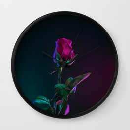 lonely rose Wall Clock
