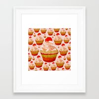 cupcakes Framed Art Prints featuring Cupcakes by yourachingart