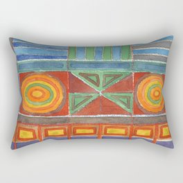 A Pair of Mesmerizing Circles Rectangular Pillow