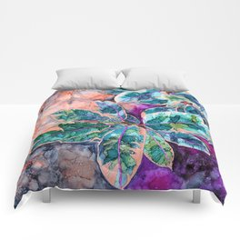 Rubber Tree - Alcohol Ink Comforters