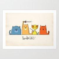 thundercats Art Prints featuring Thundercats by Aardvark