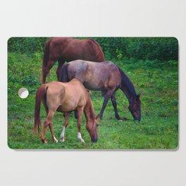 Grazing Horses Cutting Board