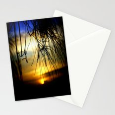 Sunset between pine Needles Stationery Cards
