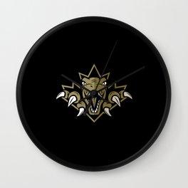 Dino Gold Leaf Wall Clock
