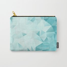 """Low-Poly Geometric Abstract Design """"Key West"""" -Aqua, Turquoise Carry-All Pouch"""